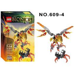 XSZ KSZ 609-4 Xếp hình kiểu Lego BIONICLE Ikir - Creature Of Fire Biochemical Warrior Flame Beast IKIR Vũ Khí Sinh Học 77 khối