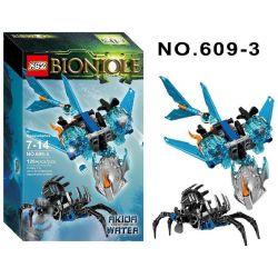 XSZ KSZ 609-3 Xếp hình kiểu Lego BIONICLE Akida - Creature Of Water Biochemical Warrior Water Tier Beast Akida Vũ Khí Sinh Học 120 khối