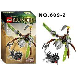 XSZ KSZ 609-2 (NOT Lego Bionicle 71301 Ketar - Creature Of Stone ) Xếp hình Vũ Khí Sinh Học 80 khối