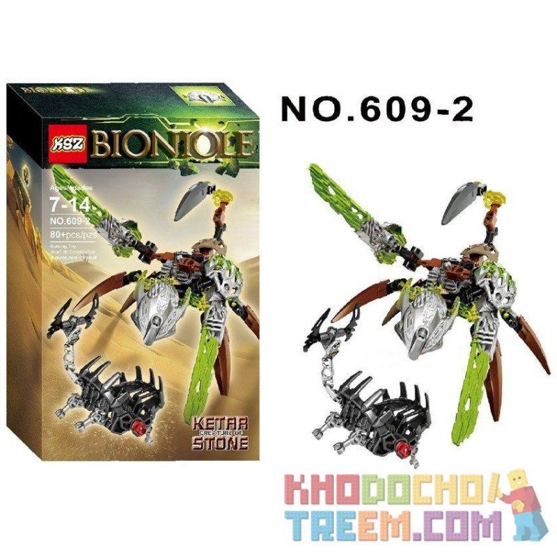 NOT Lego BIONICLE 71301 Ketar - Creature Of Stone, XSZ KSZ 609-2 Xếp hình vũ khí sinh học 80 khối