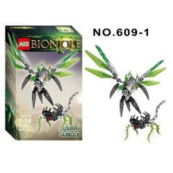 XSZ KSZ 609-1 (NOT Lego Bionicle 71300 Uxar - Creature Of Jungle ) Xếp hình Vũ Khí Sinh Học 89 khối