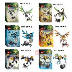 NOT Lego BIONICLE 71300 Uxar - Creature Of Jungle, XSZ KSZ 609-1 Xếp hình vũ khí sinh học 89 khối