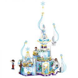 ZHEGAO QL1142 1142 Xếp hình kiểu Lego FRIENDS Windsor Castle Ice And Snow Season Lâu đài Windsor Mùa băng tuyết 617 khối