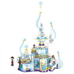 ZHEGAO QL1142 1142 Xếp hình kiểu Lego FRIENDS Windsor Innis Ice Castle Lâu đài Windsor Mùa Băng Tuyết 617 khối