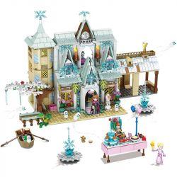SHENG YUAN SY 1578 SY1431 1431 Xếp hình kiểu Lego FRIENDS Ice And Snow Princess Garden Romantic Castle Lâu đài Băng Tuyết 1650 khối