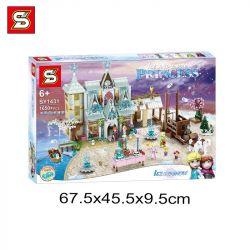 SHENG YUAN SY SY1431 1431 Xếp hình kiểu Lego FRIENDS Ice And Snow Princess lâu đài băng tuyết 1650 khối