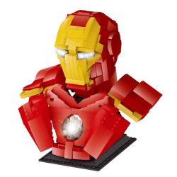 LEZHUANG LZ19303 19303 REBRICKABLE MOC-35640 35640 MOC35640 SHENG YUAN SY SY7598 7598 Xếp hình kiểu Lego Technic SUPER HEROES Iron Man Bust tượng bán thân người sắt 1450 khối