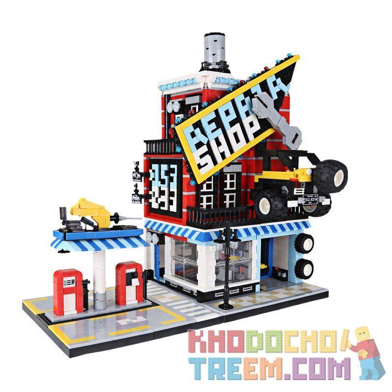 WANGE 6314 Xếp hình kiểu Lego CREATOR Auto Repair Center Trung tâm sửa chữa ô tô 2120 khối