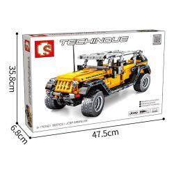 ACHKO 60001 SEMBO 701601 Xếp hình kiểu Lego TECHNIC Jeep Wrangler Rubicon Jeep Wrangler Robin Hood Kéo xe lại 601 khối