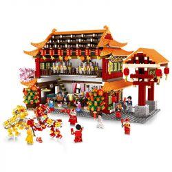 WANGE 6315 Xếp hình kiểu Lego SEASONAL Reunion New Year's Eve Bữa Tối đoàn Viên 3027 khối