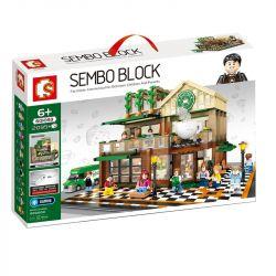 SEMBO 601093 Xếp hình kiểu Lego CREATOR Casual Coffee House Lighting Ánh sáng quán cà phê bình thường 2059 khối