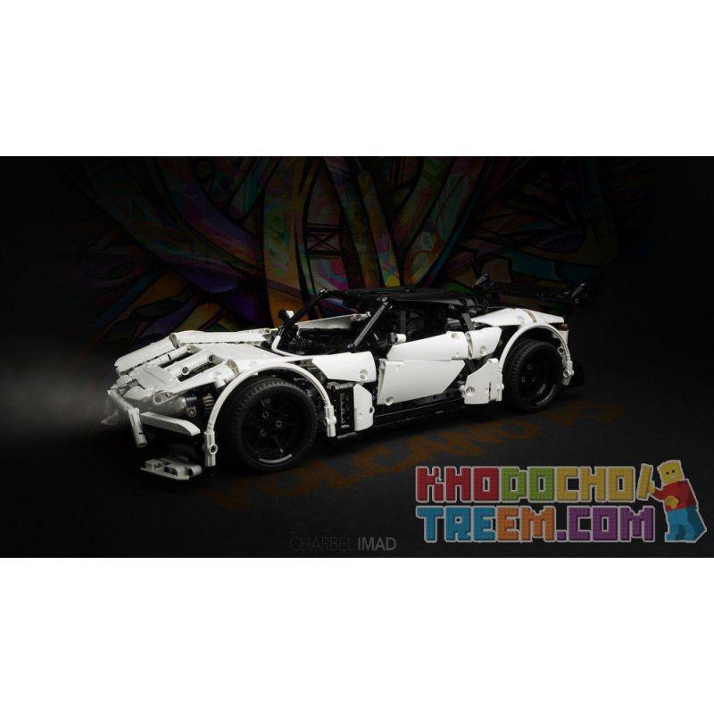 REBRICKABLE MOC-9613 9613 MOC9613 Xếp hình kiểu Lego TECHNIC Volcano Supercar Siêu xe núi lửa 1699 khối