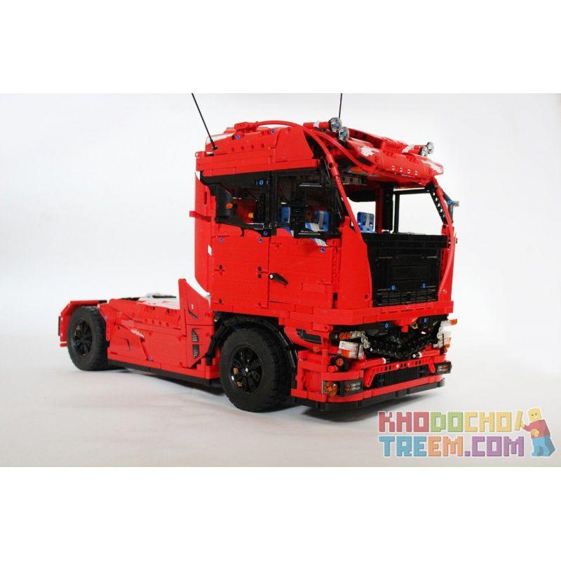 REBRICKABLE MOC-4564 4564 MOC4564 Xếp hình kiểu Lego TECHNIC Lego Technic Euro Tractor Truck European Traction Truck Xe đầu Kéo Châu Âu 4120 khối