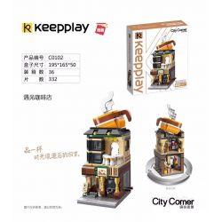 Enlighten C0102 0102 Qman C0102 0102 Xếp hình kiểu Lego MINI MODULAR City Corner Colorful Street View Meeting Coffee House Chế độ Xem Phố đầy Màu Sắc Gặp Gỡ Coffee House 332 khối