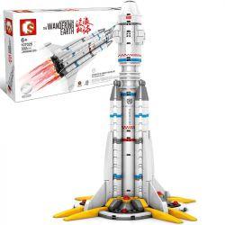 SEMBO 107025 Xếp hình kiểu Lego THE WANDERING EARTH Noulet Staff Plan Launch Rocket Đi Lang Thang Trên Trái đất Phi Công Có Kế Hoạch Phóng Tên Lửa 332 khối