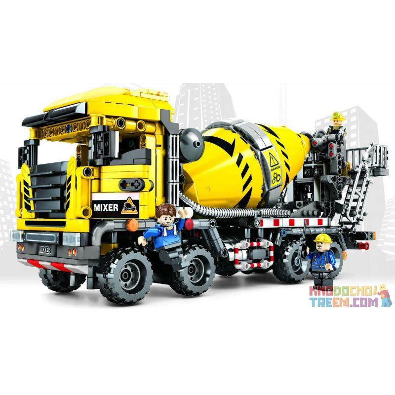 SEMBO 703941 Xếp hình kiểu Lego TECHNIC Cement Mixer Máy trộn xi măng 1143 khối