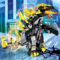 SEMBO 108592 Xếp hình kiểu Lego ULTRAMAN Ultraman Heros Cosmic Hero Altman Super Heavyweight Monster Gurante Wangmeuel Anh Hùng Vũ Trụ Ultraman Quái Vật Siêu Nặng Gurant King Megalos 472 khối