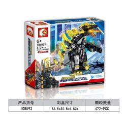 Sembo 108592 (NOT Lego Ultraman Ultraman Heros ) Xếp hình Anh Hùng Vũ Trụ Ultraman: Quái Vật Siêu Nặng Gurant King Megalos 472 khối