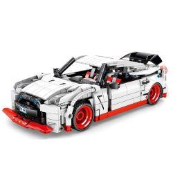 SEMBO 701712 Xếp hình kiểu Lego SPEED CHAMPIONS NISSAN GTF Nissan GTR Backbox Siêu Xe Nissan Trắng 816 khối