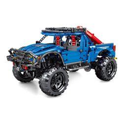 Sembo 701990 (NOT Lego Technic Ford Raptor F-150 ) Xếp hình Xe Đua Địa Hình Xanh 1630 khối