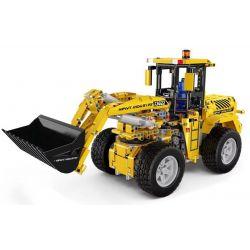MOULDKING 13122 REBRICKABLE MOC-0836 0836 MOC0836 Xếp hình kiểu Lego TECHNIC Bulldozer Wheel Loader 1 10 Máy Xúc 1572 khối điều khiển từ xa bằng điện thoại