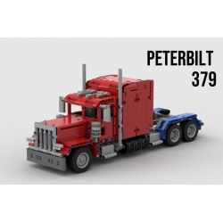 Rebrickable MOC-24330 (NOT Lego City 379 Peterbilt Truck ) Xếp hình 379 Xe Tải Bilt Pete 845 khối