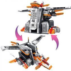 SEMBO 108776 Xếp hình kiểu Lego ULTRAMAN Ultraman Heroes Cosmic Hero Altman Phoenix Nest Căn Cứ Phượng Hoàng 1167 khối
