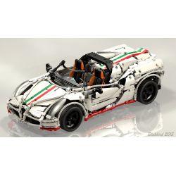 REBRICKABLE MOC-2927 2927 MOC2927 Xếp hình kiểu Lego TECHNIC Alfa Romeo 4C Spider Siêu Xe Thể Thao Alfa Romeo 2138 khối