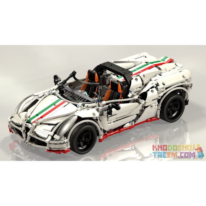 Rebrickable MOC-2927 Xếp hình kiểu LEGO Technic Alfa Romeo 4C spider Siêu Xe Thể Thao Alfa Romeo 2138 khối