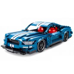 Sembo 701710 (NOT Lego City Ford Mustang ) Xếp hình Ford Mustang Pullback 737 khối