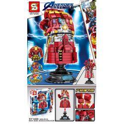 SHENG YUAN SY SY1400 1400 Xếp hình kiểu Lego MARVEL SUPER HEROES Heroes Assemble Găng tay vô cực của iron man 629 khối