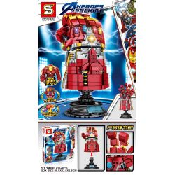MG 282 SHENG YUAN SY SY1400 1400 Xếp hình kiểu Lego MARVEL SUPER HEROES Heroes Assemble The Avengers Iron Man Infinite Gloves Găng Tay Vô Cực Của Iron Man 629 khối