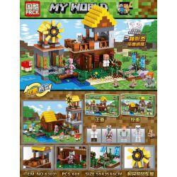 PRCK 63031 Xếp hình kiểu Lego MINECRAFT My World Villagers' Windmill House Cối Xay Gió 608 khối