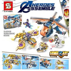 SHENG YUAN SY SY1405 1405 Xếp hình kiểu Lego MARVEL SUPER HEROES Heroes Assemble The Avengers Ultimate Battle Avengers Trận Chiến Cuối Cùng 580 khối