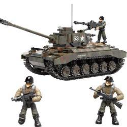 XIANG JUN XJ-910 Xếp hình kiểu Lego MILITARY ARMY M26 Pershing US M26 Panxing Heavy Tank Xe Tăng Hạng Nặng M26 Pershing Của Mỹ 938 khối