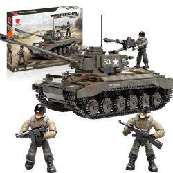 XIANG JUN XJ-910 Xếp hình kiểu Lego MILITARY ARMY American M26 Pershing Heavy Tank Xe tăng hạng nặng M26 Pershing của Mỹ 938 khối