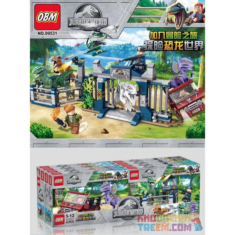 FROG BABY OBM 99531 Xếp hình kiểu Lego JURASSIC WORLD Jurassic World Khủng long sổng chuồng 584 khối