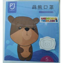 Khẩu trang gấu trẻ em 3 tháng - 3 tuổi KN95 Pingjia lọc hơn 95% bụi siêu mịn PM2.5 hình 3D chun vải siêu mềm chính hãng
