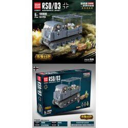 100086 (NOT Lego City Rso/03 ) Xếp hình Xe Tăng Trong Thế Chiến Ii: Máy Kéo Nửa Đường Kiểu Diesel (Lừa Sắt Của Đức Quốc Xã) 551 khối