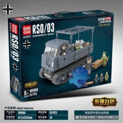 QUANGUAN 100086 Xếp hình kiểu Lego WORLD WAR II RSO 03 Máy Kéo Nửa Đường Kiểu Diesel (Lừa Sắt Của Đức Quốc Xã) 551 khối
