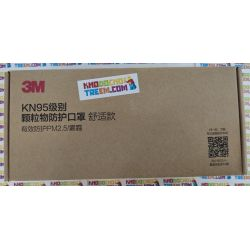 Khẩu trang 3M 9502V+ KN95 lọc hơn 95% bụi siêu mịn PM2.5 có van thở, đeo tai, chun vải mềm hơn 9502VT, chính hãng