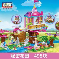 GUDI 9018 Xếp hình kiểu Lego Secret Gardan Alice Princess Secret Garden Công Chúa Alice Khu Vườn Bí Mật 498 khối
