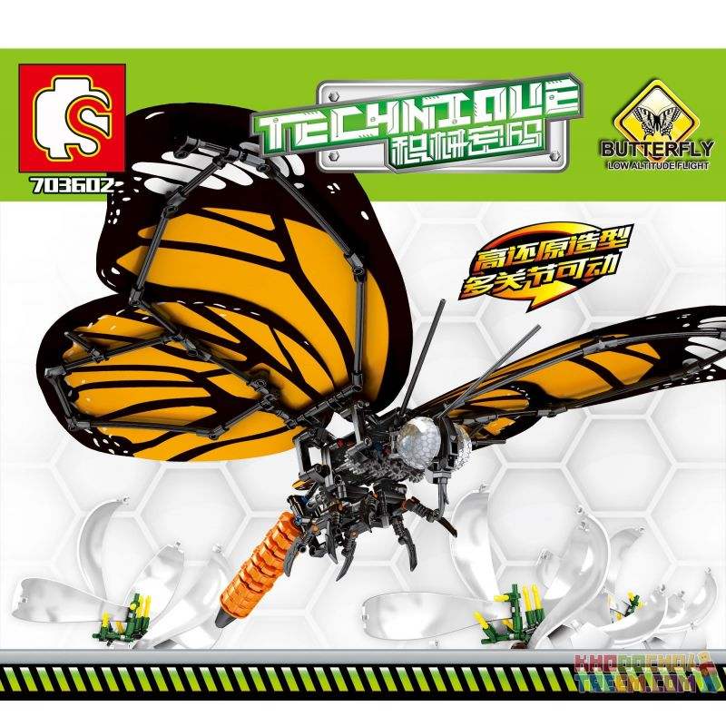 SEMBO 703602 Xếp hình kiểu Lego TECHNIC TECHINQUE:Butterfly Mã Jaguar: Bướm Tabby 511 khối