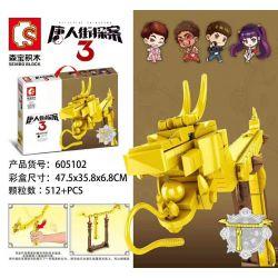 SEMBO 605102 Xếp hình kiểu Lego Chinatown Principle 3 Find A Dragon Feet Thám Tử Phố Tàu 3 Người Cai Trị Rồng 512 khối