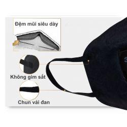 Khẩu trang 3M 9501M KN95 lọc hơn 95% bụi siêu mịn PM2.5 có van thở, đệm mũi êm, chun vải mềm đen nam tính chính hãng
