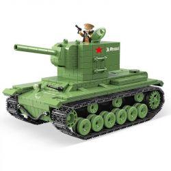 QUANGUAN 100071 Xếp hình kiểu Lego KV-2 Heavy Panzer World War II Tank KV-2 Heavy Tank Xe Tăng Hạng Nặng 818 khối