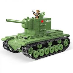QUANGUAN 100071 Xếp hình kiểu Lego WORLD WAR II KV-2 Heavy Panzer xe tăng hạng nặng 818 khối