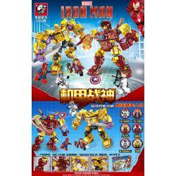 TIGER 71130 Xếp hình kiểu Lego MARVEL SUPER HEROES Iron Man Mechanical War Antihark And The Tyrant Trận Chiến Với Thanos 817 khối