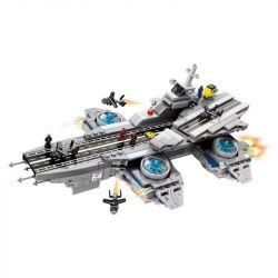 SHENG YUAN SY SY1415 1415 Xếp hình kiểu Lego SUPER HEROES S.H.I.E.L.D. Aircraft Carrier Trumpet Kèn tàu sân bay S.H.I.E.L.D. 808 khối