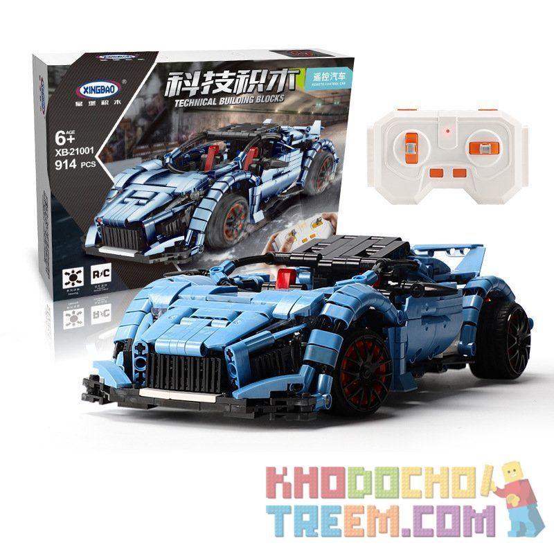XINGBAO XB-21001 21001 XB21001 Xếp hình kiểu Lego TECHNIC xe đua công thức 1 807 khối điều khiển từ xa